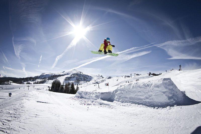 Ski Snowboard Steinplatte